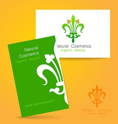 natural cosmetics logo vector image