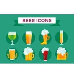 Beer bottle sign icons set vector