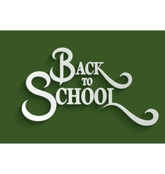 Back to school lettering greeting card vector