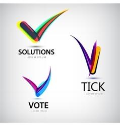Set of tick logos vote vector