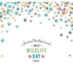 Abstract banner promotion of world wild life day vector
