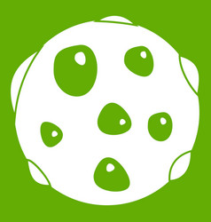 alone planet icon green vector image vector image