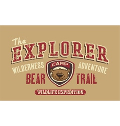 Bear trail outdoor adventure vector image