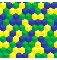 Brazilian colors seamless pattern vector image