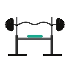 Brench press exercise gym design vector