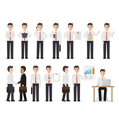 Businessman people characters vector