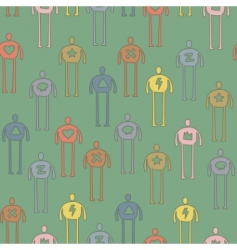 characters pattern vector image vector image