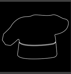 Chef cooking hat white color path icon vector