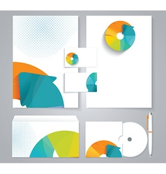 Corporate identity business set design with vector image