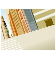 Crosswalk in a city vector image vector image