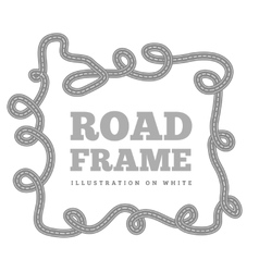 Curved road track in a frame vector