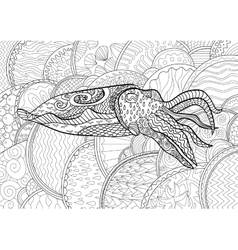 Cuttlefish with high details vector image vector image