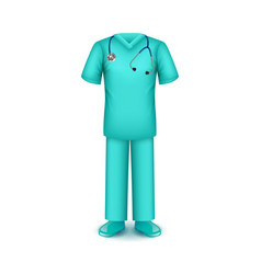 doctor uniform isolated on white vector image vector image