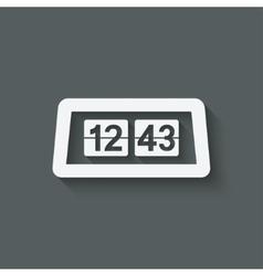 Flip Alarm Clock vector image vector image