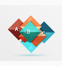 Geometric square and triangle template vector