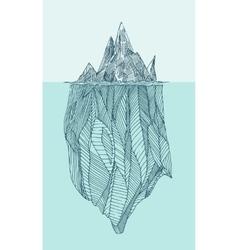 Iceberg vintage engraved hand drawn vector