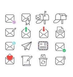 Mail icons set vector image vector image