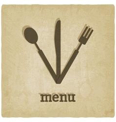 menu old background vector image