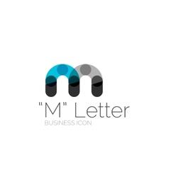 Minimal font or letter logo design vector image vector image