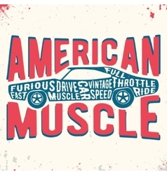 Muscle car vintage stamp vector image