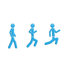people running walking symbol vector image vector image