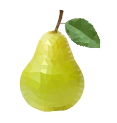 polygonal pear vector image