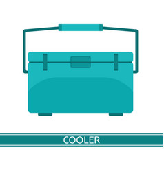 portable cooler icon vector image vector image