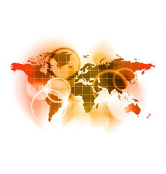 red map of the world vector image