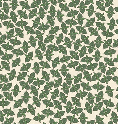Seamless background pattern with mint leaves vector image vector image
