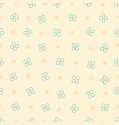 seamless pattern with four petals flowers vector image vector image