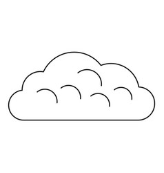 Snow cloud icon outline style vector