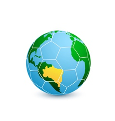 soccer planet vector image