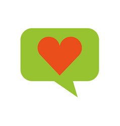 speech bubble with heart vector image vector image