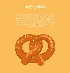 Tasty bagels pretzel crisp biscuit baked in knot vector