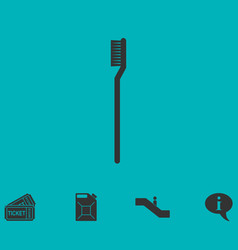 Toothbrush icon flat vector