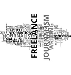 What is freelance journalism text word cloud vector