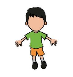 Boy cartoon student young character vector