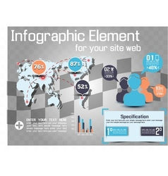 Infographic modern style web element 2 vector