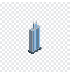 Isolated skyscraper isometric business center vector