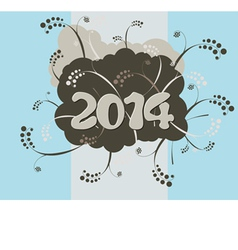 2014 - Happy New Year card in urban style vector image vector image