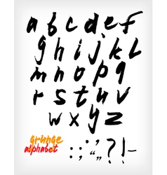 Grunge handwritten alphabet set vector