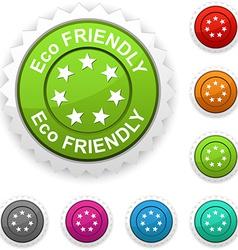 Eco friendly award vector