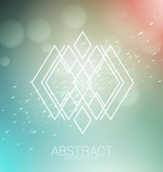 Abstract background with hipster geometric line vector