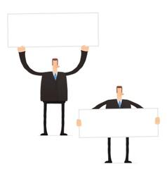 set of funny cartoon businessman vector image