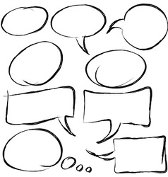 Speech bubble hand drawn vector