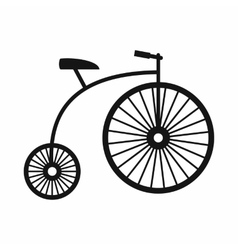 Penny-farthing icon simple style vector image