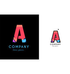 a blue red letter alphabet logo icon design vector image vector image