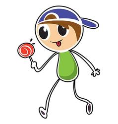 A little boy with lollipop vector image