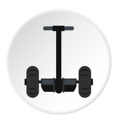 Alternative transport vehicle icon circle vector