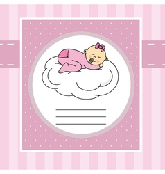 Baby sleeping on a cloud vector